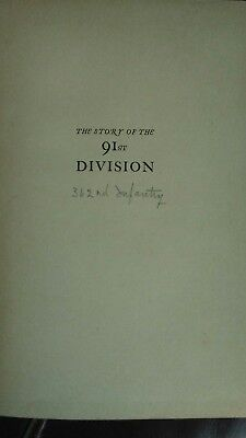 The story of the 91st division. 1919 war book with personal connection and note