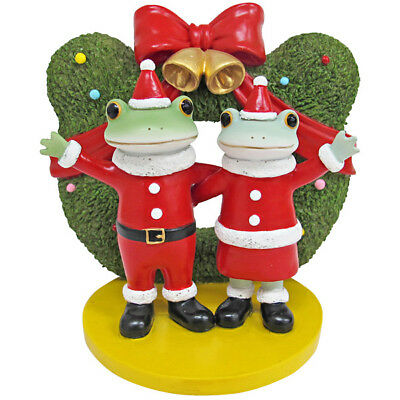 Copeau Frog Couple Christmas Xmas Wreath Tree Mini Figurine Figure Japan F/S