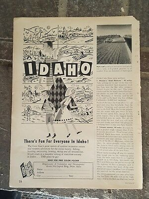 1959 print ad-There's fun for everyone in Idado-Dept of Commerce - Development