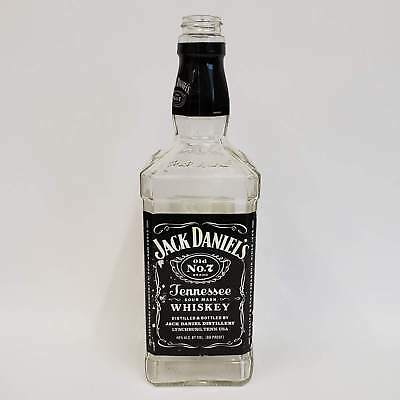 Single Empty Jack Daniels 750mL Bottle Great for Crafts Upcycle Decor Man Cave