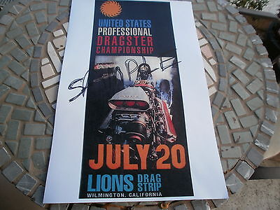 "LIONS DRAG STRIP 11""x 17""  PDA RACE POSTER FROM 1969 NHRA  FUNNY CAR DRAG RACING"