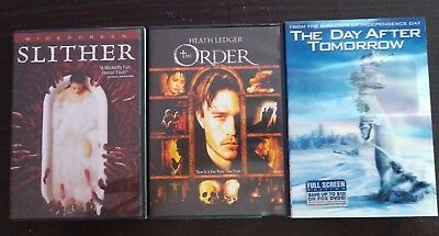 Slither The Order The Day After Tomorrow DVD Lot Used