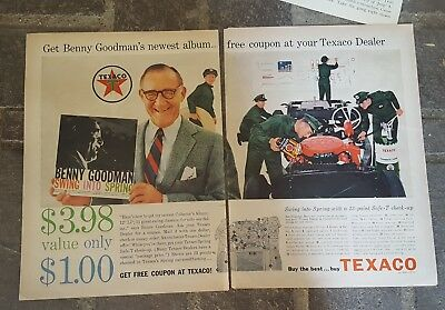 1959 print ad-Texaco-Get new album by Benny Goodman-Swing into Spring-for $1.00