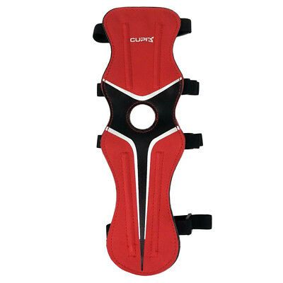 Nylon Archery Arm Protector Guard for Bow Shooting Arm Armband 4 Strap Red