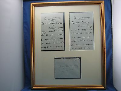 Two Signed Personal Letters Prince Of Wales King Edward VIII to Harry Preston