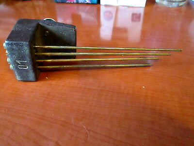 Vintage Mantle Clock 4 Rod Chimes / Gong (284P)