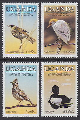 UGANDA - 1985 Birth Bicentenary of John J Audubon - 1st issue (4v) - UM / MNH