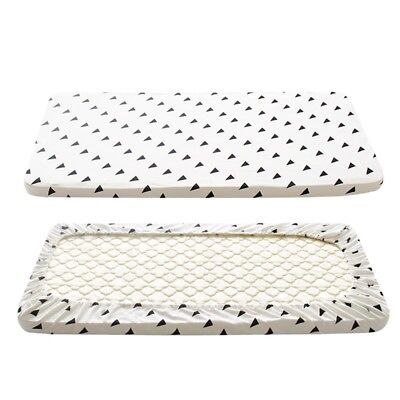 Fitted Sheet Baby Crib Cotton Bed Sheets Newborn Mattress Cover Protector Two Si