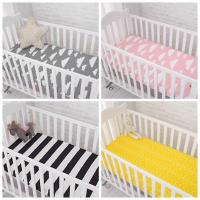 Bed Sheet Cotton Baby Fitted Sheets Cartoon Infant Crib Mattress Cover Protector