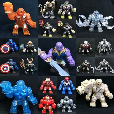 2019 7cm Big Size set Super hero Marvel Thanos Hulk Venom Custom Mini figures