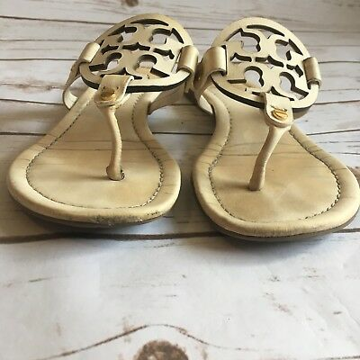 002169f4a6250 TORY BURCH LOGO miller sandals black shiny leather size 8 -  18.44 ...
