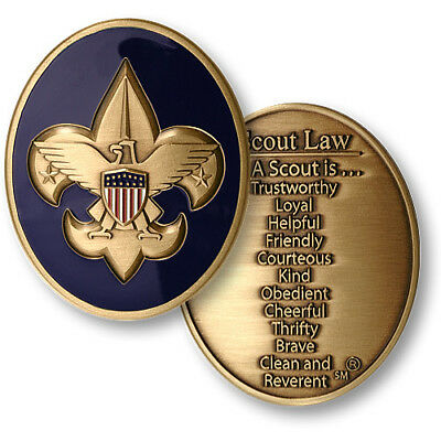 Boy Scouts Of America  Scout Law Bsa 2' Challenge Coin Bronze Medallion