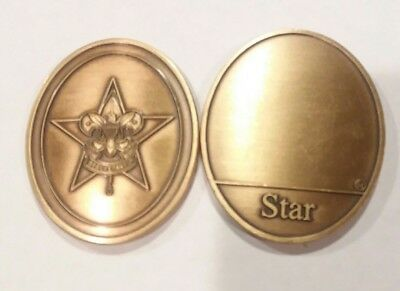 Star Scout - Boy Scouts of America Bronze Challenge Coin All Brass