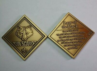 "Scouting - Cub Scout ""Law of the Pack"" - Bronze Challenge Coin"