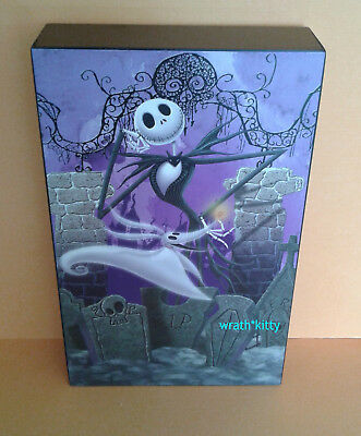 Disney JACK & ZERO Wooden Table Top Nightmare Before Christmas Box Picture New
