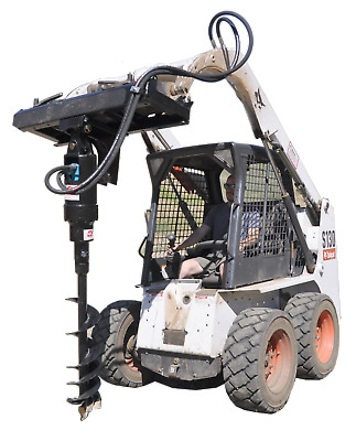 ToolTuff S21 Hydraulic Post Hole Digger for Skid Steer, Bobcat,  w/Auger Choice