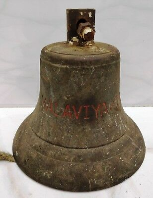 rare vintage marine brass ship salvage malaviya two bell 100% original