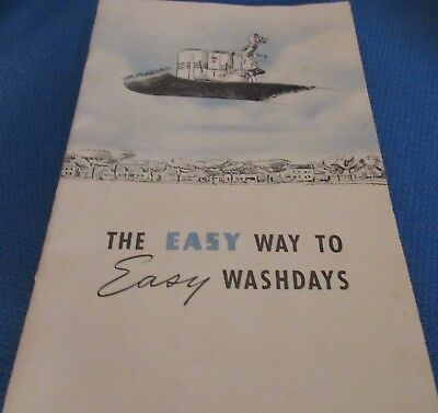 """Vintage Easy Washing Machine Corp. """"The Spindrier"""" Booklet/Manual 1941"""