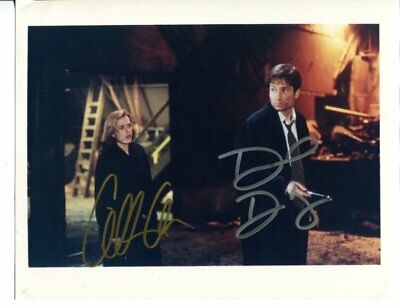 the X Files GILLIAN ANDERSON & DAVID DUCHOVNY autograph HAND SIGNED 2395