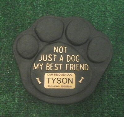Dog Large Pet Memorial/headstone/stone/grave marker/memorial paw with plaque 15