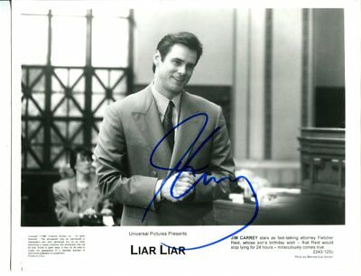 JIM CARREY autograph HAND SIGNED 2406