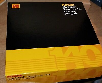 Kodak 140 Slide Tray Carousel in Excellent Condition with Box & Paperwork B140T