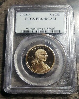 2002-S PROOF Native American Sacagawea Dollar PCGS PR69DCAM  - Old Slab