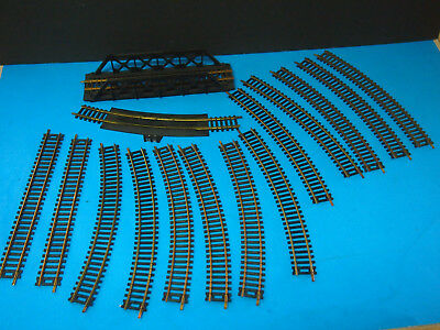 Bachmann ho scale train track MADE IN HONG KONG  15 PIECES