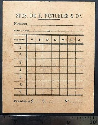 Puerto Rico Ciales 1960's, Sucs. De F. Pintueles & Co. weekly coffee weight logs