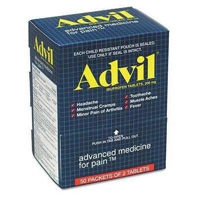 ADVIL 15489 Ibuprofen Tablets,Two-Packs,PK50