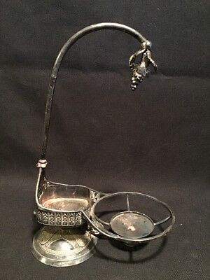 Antique Victorian Meriden Silverplate Stand Grapes