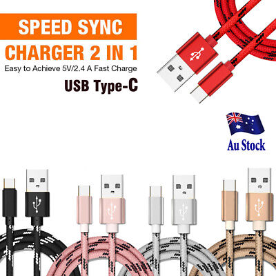 Rapid Charging Type-C USB C Data Sync Cable Cord Charger for Samsung Huawei Oppo