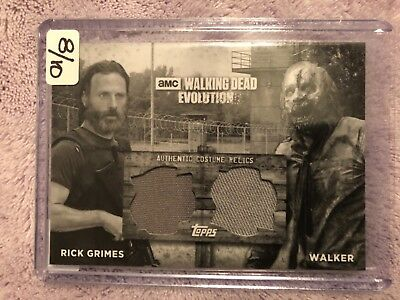 Walking dead evolution lot of 3 , 1 costume relic # 8 of 10 and 2 autographs