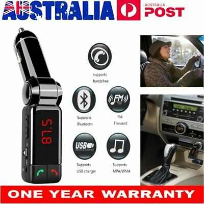 VicTsing Bluetooth Car Kit FM Transmitter Charger MP3 Player USB for iPhone 7 8