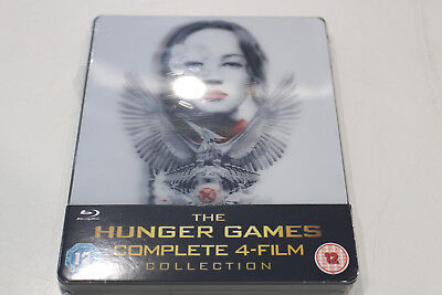 New - The Hunger Games: Complete 4-Film Collection - Steelbook Bluray - Region B