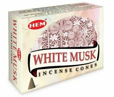 Hem Incense Cones Fragrance - bulk lot 120 cones White Musk FREE POSTAGE
