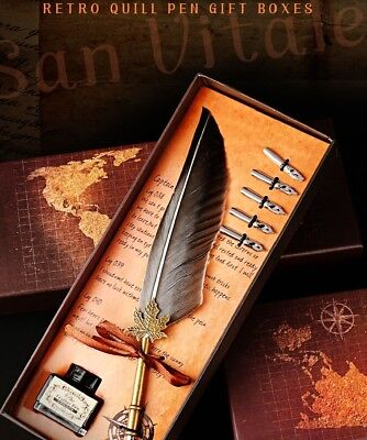 Vintage feather pen set creative exquisite gift personalized custom