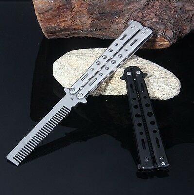 Butterfly Kamm LEGAL Taschenkamm Trainer Training Messer Balisong Übungsmesser