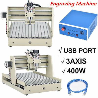 USB 400W 3Axis CNC 3040 Router Engraver Milling Cutter Machine Wood PCB desktop