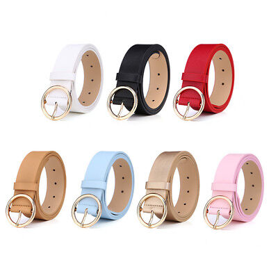 Fashion Women Waistband PU Leather Belt Pin Buckle Waist Strap For Jeans Skirt