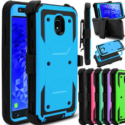 For Samsung Galaxy J7 2018/Refine/Crown Phone Case Hybrid Clip Stand Hard Cover
