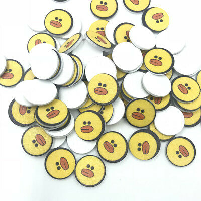 DIY 50X Wood Round duck Wooden crafts scrapbooking decoration Kid's crafts 20mm