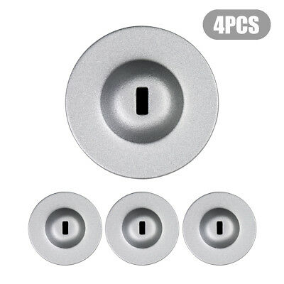 Sliver Anchor Plate Adhesive Security Plate Universal Lock Plate For Loptop 4Pcs