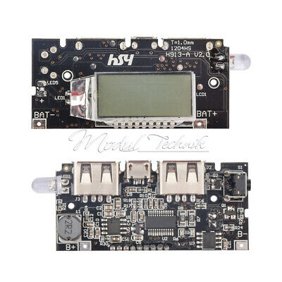 Dual USB 5V 1A 2.1A Mobile Power Bank 18650 Battery Charger PCB Board