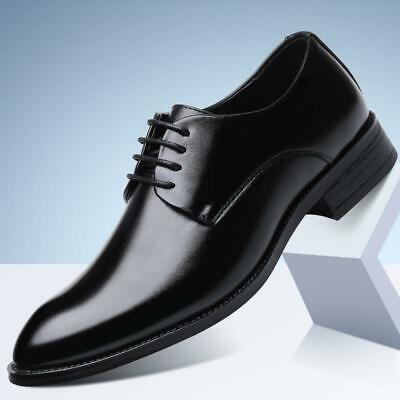 Mens Dress Formal Leather Shoes Business Casual Wedding Party Pointed Size 2091