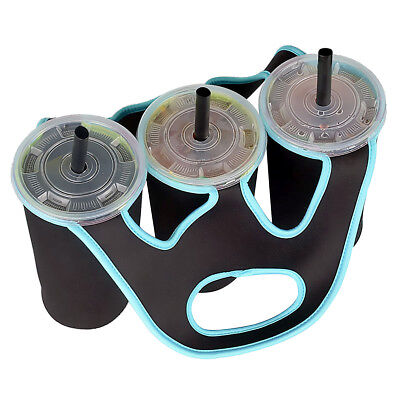 3 in 1 Insulated Bottle Cup Holder Carrier Tote Bag for Carrying Coffee Drink.