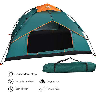 Outdoor 3-4 Person Man Festival Camping Tent Instant Pop Up Double Layer Family