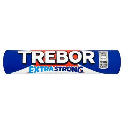 Trebor Extra Strong Spearmint Rolls, hard candy mints with a strong flavour