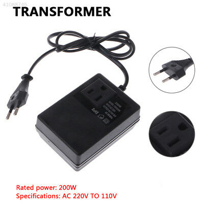 AC Power Adapter Converter Durable 220V TO 110V Black Electrician Low Frequency
