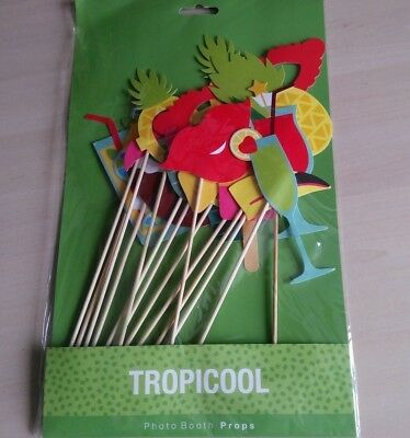 Hawaii Tropical Summer Party Aloha Flamingo Pineapple Photo Booth Selfie Props